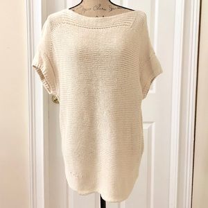 Talbots chunky linen cream sweater